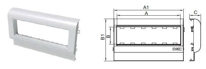 Рамка DKC PDA3-45N 00564 6xMosaic белый (упак.:1шт) - фото 2