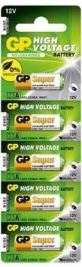 Батарея MN21 GP Super Alkaline 23AF, в комплекте 5шт. (GP 23AF-2C5)