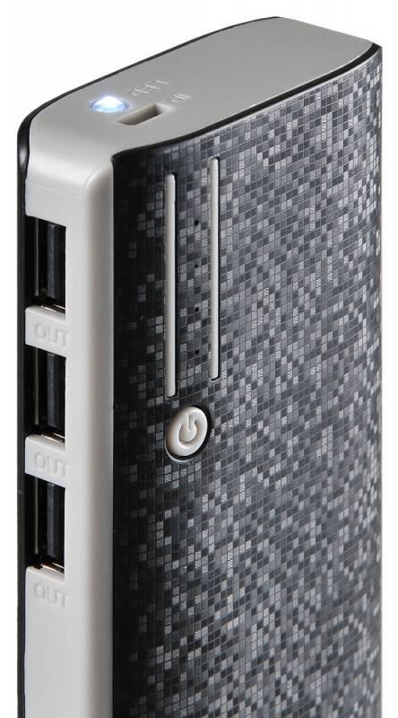 Мобильный аккумулятор BURO RC-10000 черный - фото 5