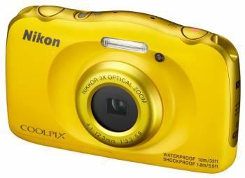Фотоаппарат Nikon CoolPix W100 желтый (VQA013K001)