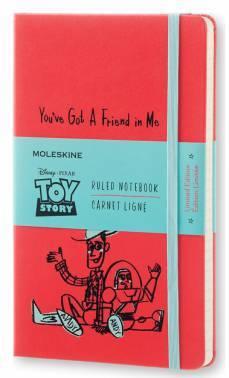 Блокнот Moleskine Limited Edition TOY STORY LARGE 130х210мм 240стр. линейка красный