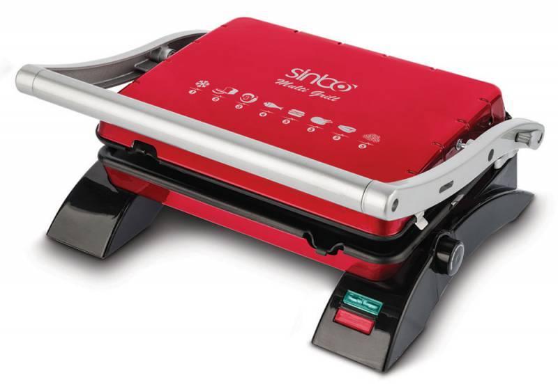 Электрогриль Sinbo SSM 2529 красный - фото 1