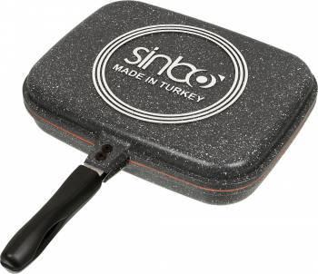 Сковорода-гриль Sinbo SP 5218 прямоугольная руч.:несъемная серый