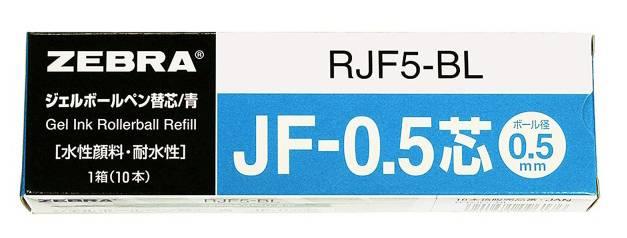 Стержень для гелевых ручек Zebra JF RJF5-BL 0.5мм синий блистер (2шт) - фото 1