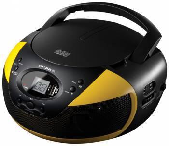Магнитола Supra BB-CD121U черный / желтый
