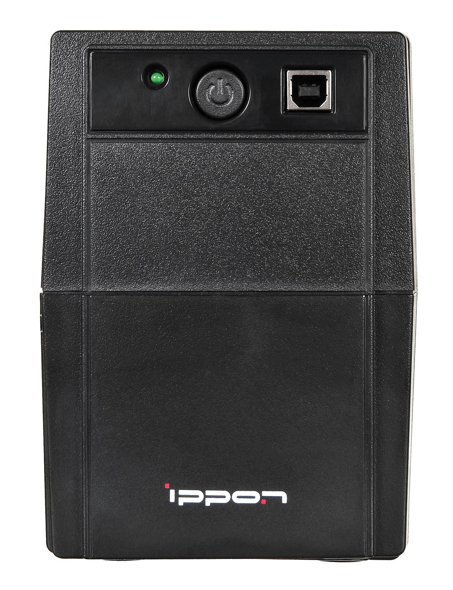 ИБП Ippon Back Basic 1050 Euro черный - фото 1
