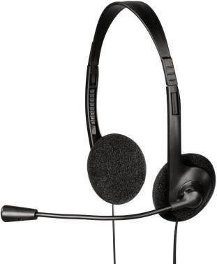 Наушники с микрофоном Hama HS-101 черный (00053999)