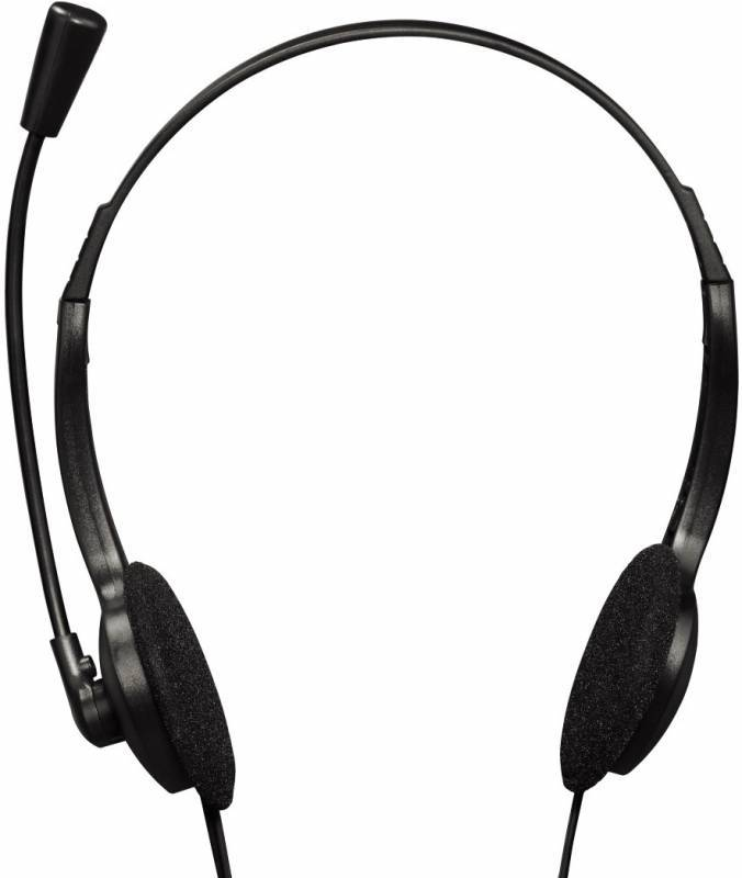 Наушники с микрофоном Hama HS-101 черный (00053999) - фото 3