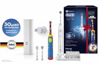 Электрическая зубная щетка Oral-B 8200 + Mickey Kids белый