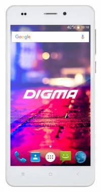 Смартфон Digma CITI Z560 4G белый, встроенная память 16Gb, дисплей 5 1280x720, Android 6.0, камера 8Mpix, поддержка 3G, 4G, 2Sim, 802.11bgn, BT, GPS, FM радио, microSD до 32Gb (CS5021ML)