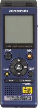 Диктофон 4Gb Olympus WS-806 + microphone ME-51S синий (WS-806+ME-51S)