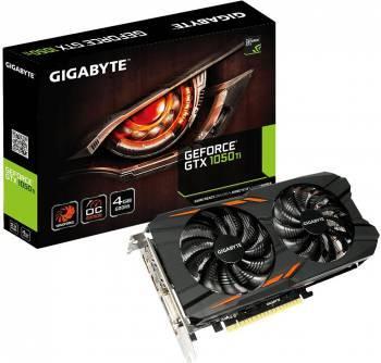 Видеокарта Gigabyte GeForce GTX 1050TI Windforce OC 4G 4096 МБ (GV-N105TWF2OC-4GD)