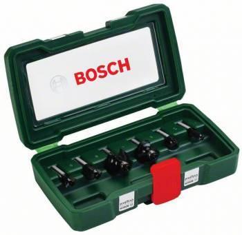 Набор фрез по дереву Bosch 6 НМ-SET (2607019463)