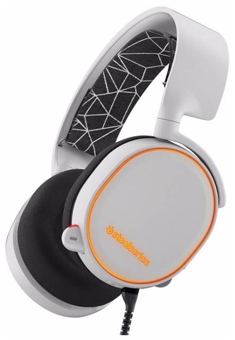 Наушники с микрофоном Steelseries Arctis 5 белый (61444) - фото 3