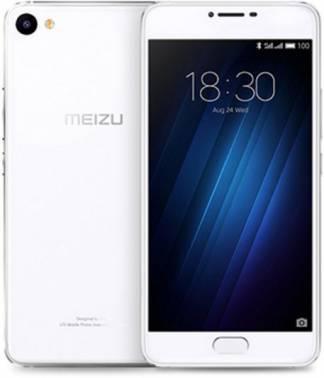 Смартфон Meizu U10 16ГБ серебристый / белый
