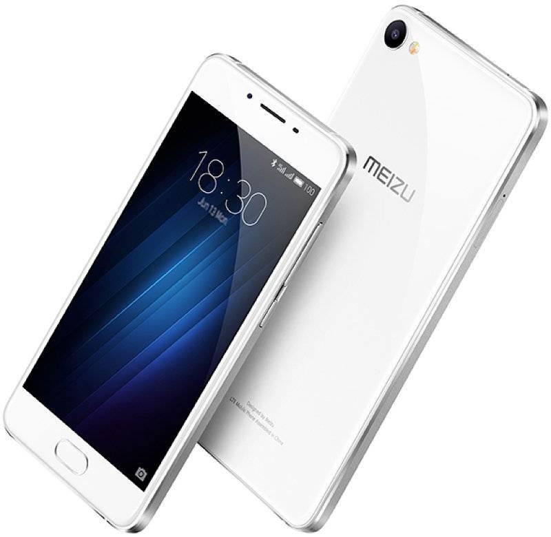 Смартфон Meizu U10 16ГБ серебристый/белый - фото 2