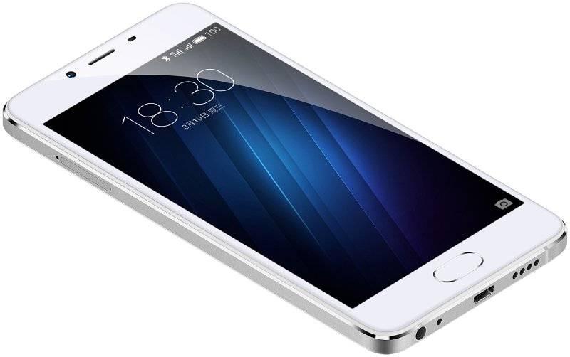 Смартфон Meizu U10 16ГБ серебристый/белый - фото 3