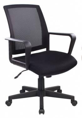 Кресло Бюрократ CH-498/TW-11 спинка сетка, цвет обивки: черный TW-11, ткань, крестовина пластиковая