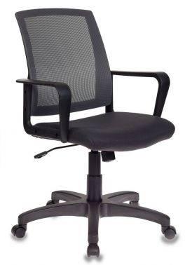 Кресло Бюрократ CH-498/DG/TW-12 спинка сетка, цвет обивки: серый TW-12, ткань, крестовина пластиковая