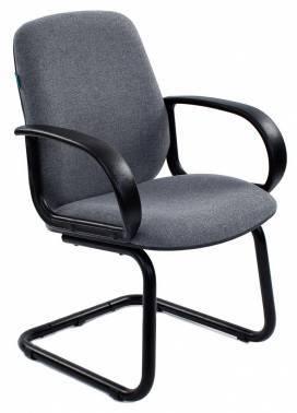 Кресло Бюрократ CH-808-LOW-V/GREY низкая спинка, цвет обивки: серый 10-128, ткань