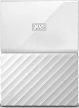Внешний жесткий диск 1Tb WD WDBBEX0010BWT-EEUE My Passport белый USB 3.0