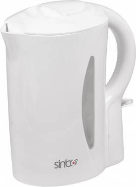 Чайник электрический Sinbo SK 7352 белый, объём 1.7л, мощность 2000Вт, материал корпуса: пластик