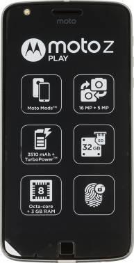 Смартфон Motorola MOTO Z Play 32ГБ черный / серебристый