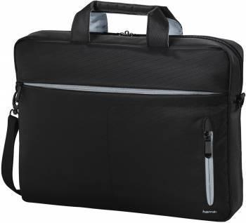 Сумка для ноутбука 15.6 Hama Marseille Style черный / серый