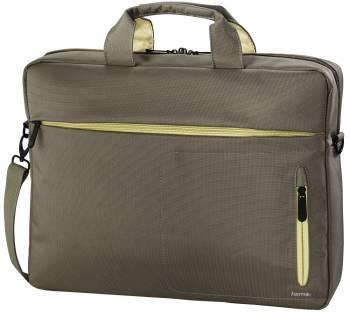"""Сумка для ноутбука 15.6"""" Hama Marseille Style коричневый/желтый (00101283)"""