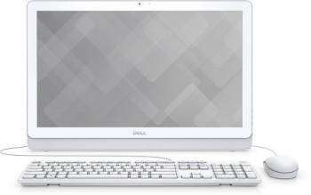 Моноблок Dell Inspiron 3464 белый, диагональ экрана 23.8, разрешение 1920x1080, процессор Intel Core i3 7100U 2.4ГГц, оперативная память 4Gb DDR4, жесткий диск 1Tb, видеокарта Intel HD Graphics 620, DVDRW, CR, Windows 10 Home 64-bit Single Language, Eth,