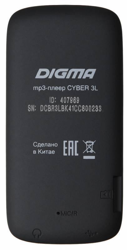 Плеер Digma Cyber 3L 4ГБ черный/красный (CYB3LB) - фото 2