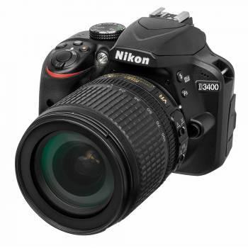 Фотоаппарат Nikon D3400 черный, 1 объектив 18-105mm f / 3.5-5.6 VR