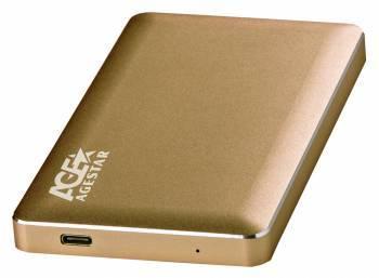Внешний корпус для HDD AgeStar 31UB2A16C SATA золотистый