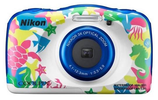 Фотоаппарат Nikon CoolPix W100 аквамарин (VQA014K001) - фото 1