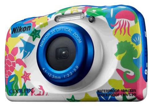 Фотоаппарат Nikon CoolPix W100 аквамарин (VQA014K001) - фото 3