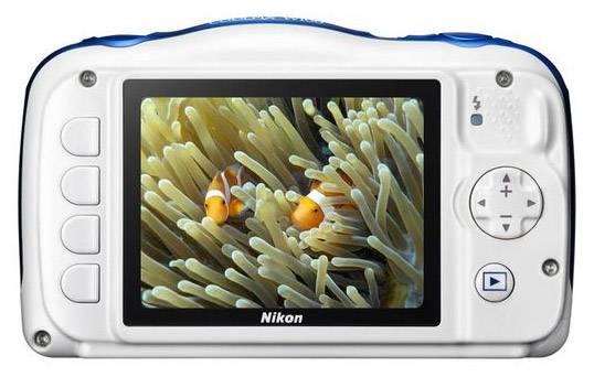 Фотоаппарат Nikon CoolPix W100 аквамарин (VQA014K001) - фото 4