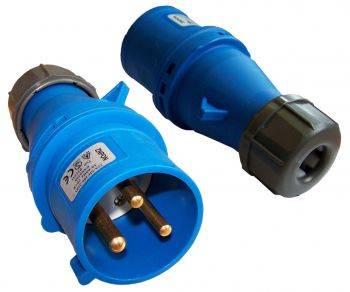 Вилка Lanmaster LAN-IEC-309-32A1P / M IEC 309 32A 250V blue