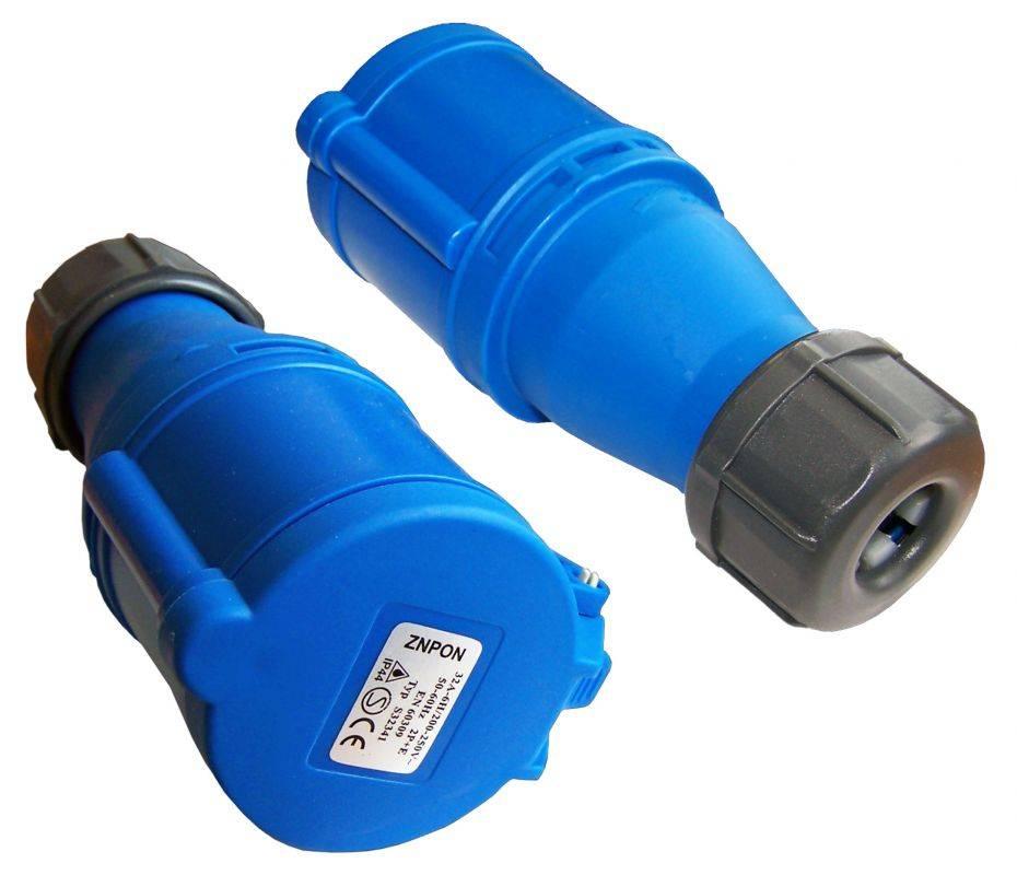 Вилка Lanmaster LAN-IEC-309-32A1P/M IEC 309 32A 250V blue - фото 2