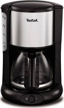 Кофеварка капельная Tefal CM361838 серебристый / черный