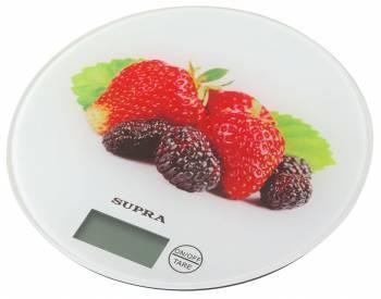 Кухонные весы Supra BSS-4601 белый / клубника