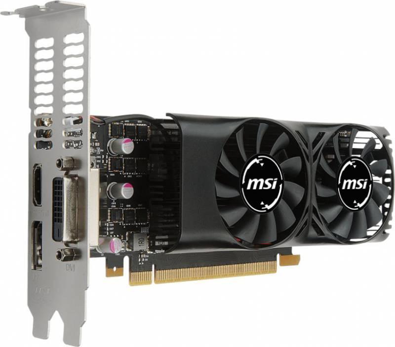 Видеокарта MSI GTX 1050 TI 4GT LP 4096 МБ - фото 2