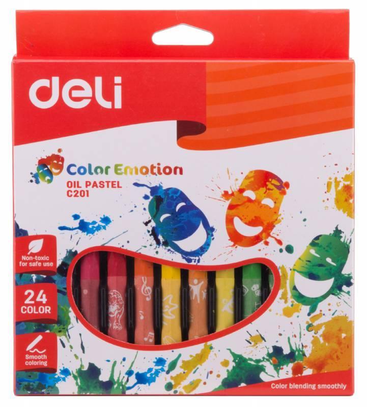 Масляная пастель Deli Color Emotion 24 цвета (EC20120) - фото 1