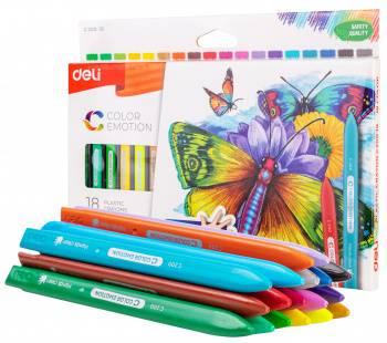 Восковые мелки Deli Color Emotion 18 цветов (ec20010)