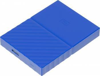 Внешний жесткий диск 1Tb WD WDBBEX0010BBL-EEUE My Passport синий USB 3.0