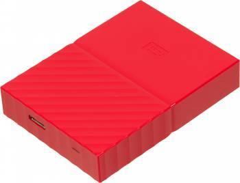 Внешний жесткий диск 1Tb WD WDBBEX0010BRD-EEUE My Passport красный USB 3.0