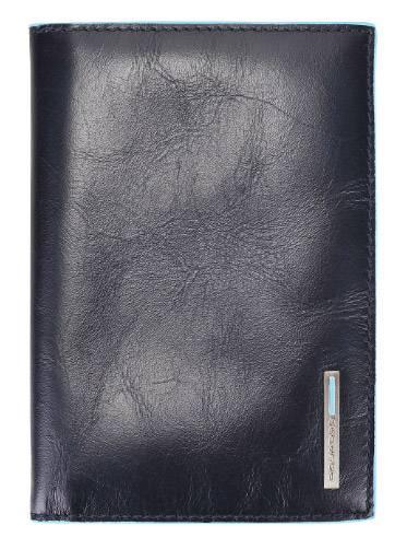 Обложка для паспорта Piquadro Blue Square синий, кожа натуральная (AS300B2/BLU2) - фото 1