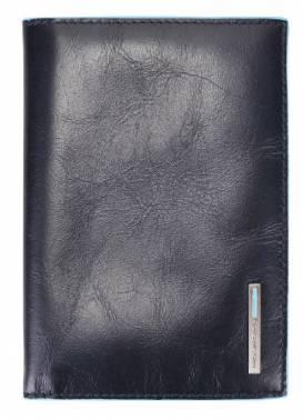 Обложка для паспорта Piquadro Blue Square синий, кожа натуральная (AS300B2/BLU2)