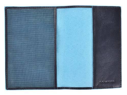 Обложка для паспорта Piquadro Blue Square синий, кожа натуральная (AS300B2/BLU2) - фото 2