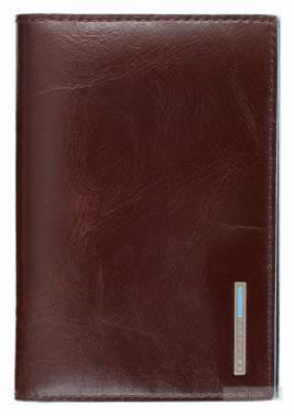 Обложка для паспорта Piquadro Blue Square коричневый, кожа натуральная (AS300B2/MO)