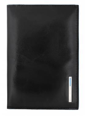 Обложка для паспорта Piquadro Blue Square черный, кожа натуральная (AS300B2/N)